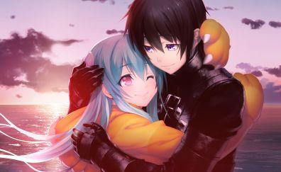 Tokyo necro, anime, couple, video game, love