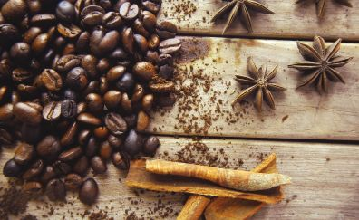 Seeds, coffee beans, beans, aroma