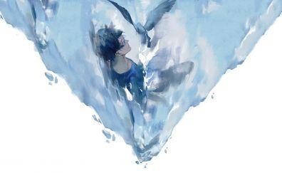 Jump, dive, Zankyou no Terror, anime boy