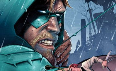 Green arrow, face, dc comics