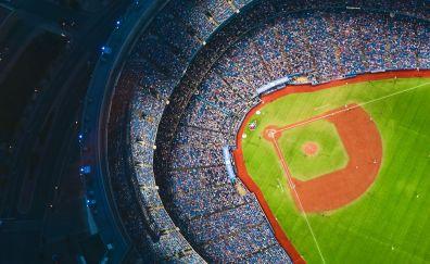 Baseball Stadium, aerial view, sports