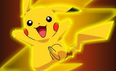Happy pikachu, pokemon, anime