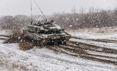 Tank, snowfall, winter