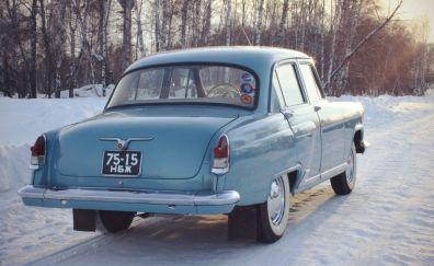 Vintage, Classic Russian car, Volga