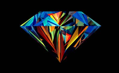Diamond geometry art