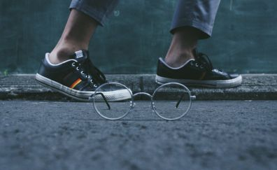 Glasses and shoes