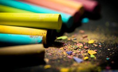 Colorful, chalks, powder