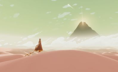 The journey, game, desert, mountains