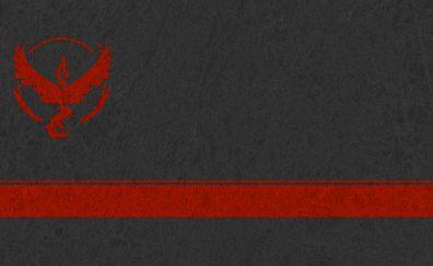 Team valor minimal logo of pokemon go game