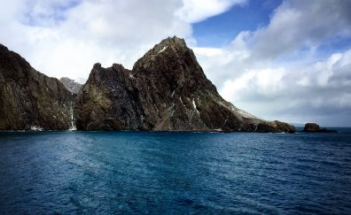 Elephant island in southern ocean