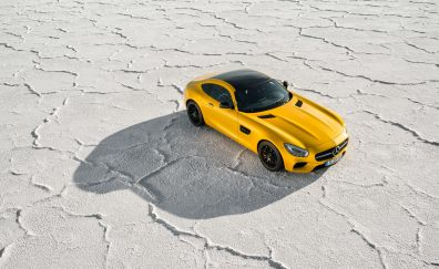 Mercedes-Benz AMG GT, sports cars, yellow car