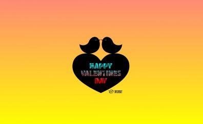 Valentines day, birds, heart