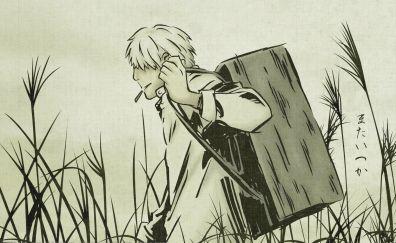Ginko of mushishi anime simple artwork