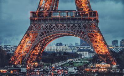 Eiffel Tower, Paris, France, light