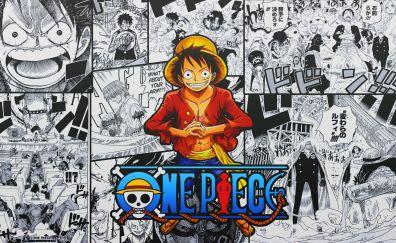 Happy, anime boy, Monkey Luffy