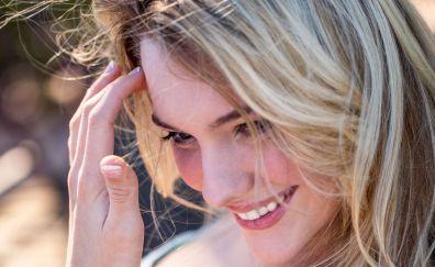 Kenna James, model, smile, face