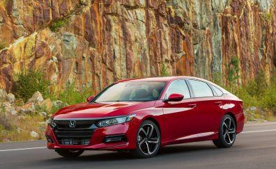 Honda accord, red car, 4k