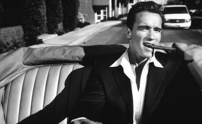 Arnold schwarzenegger, monochrome, actor