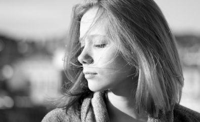 Laia Manzanares, model, actress, monochrome