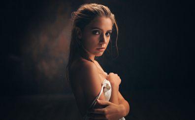 Ksenia kokoreva, girl, model, bare shoulder
