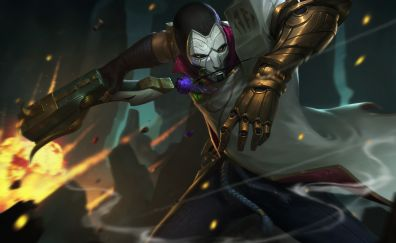 Jhin, league of legends, game, 2017