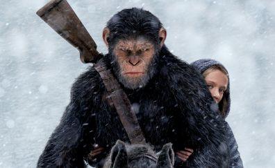 War for the planet of the apes, caesar, nova, 2017, movie