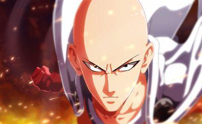 Saitama of one punch man anime wallpaper