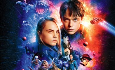 Valerian and Laureline, Valerian and the city of a thousand planets, 2017, poster, 4k