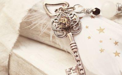 Door key, close up