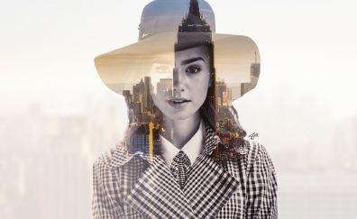 Lily Collins, fan art, celebrity