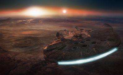 Space, scifi, spacecraft, star wars episode, fan art, 4k