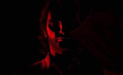 The Wolf Among Us, video game, man, face, dark