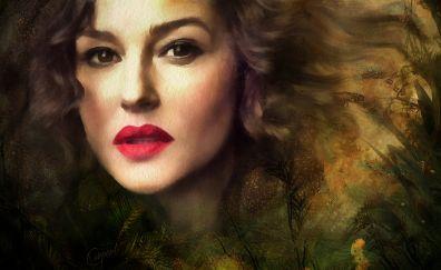 Face, Monica Bellucci, fan art