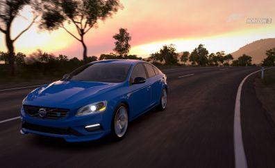 Volvo s60, Forza Horizon 3, video game, road