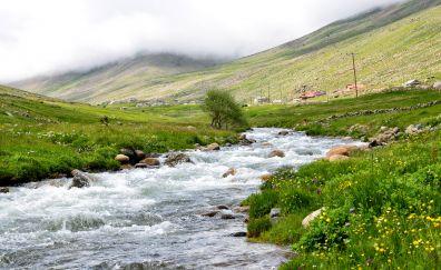 Water flow, river landscape, Eastern black sea, Turkey