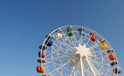 Ferris wheel of amusement park