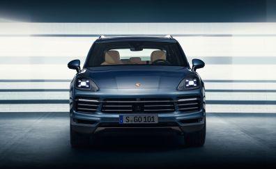 2018 Porsche Cayenne, luxury sedan, car, front, 4k
