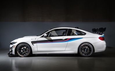 2018 BMW gt4, sports car, side view, 4k