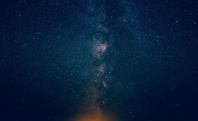 Night, sky, stars, milky way, 4k