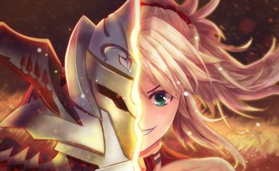 Saber of red, fate series, face