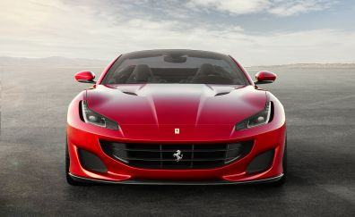 Ferrari Portofino, red sports car, 2017 car