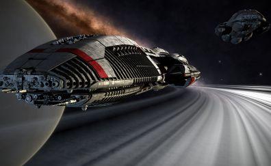 Space, spaceship, spacecraft