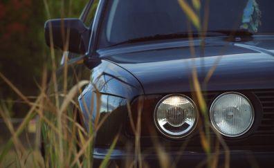 Bmw E34, car, headlight