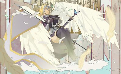 Ruler, fate/apocrypha, anime girl, 5k