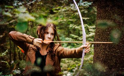 Archer, outdoor, girl model, cosplay, 4k