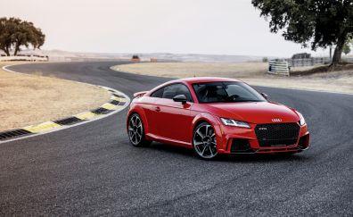 Audi TT RS, front, red car, 4k
