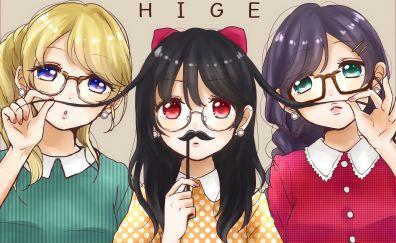Ayase Eli, Toujou Nozomi, Yazawa Nico, Love Live!, anime girl, fun