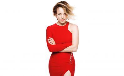 Rachel McAdams, beautiful red dress, smile