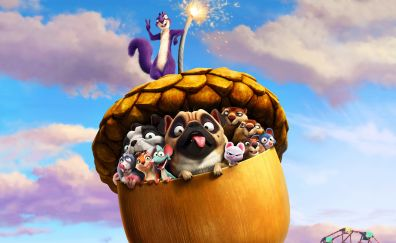 The nut job 2, animated movie, 4k