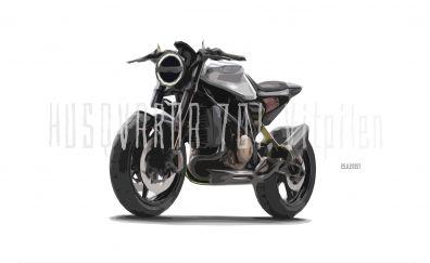 Husqvarna Vitpilen 701, motorcycle, art